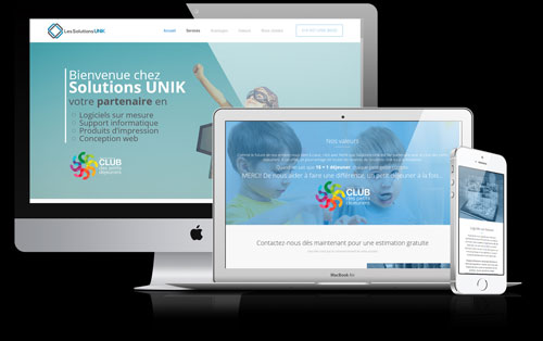 conception site web solutions unik noir