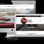 Conception WordPress Groupe Profisc - Noir