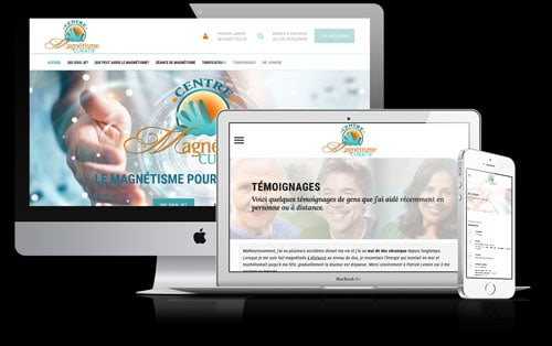 Conception site web Wordpress pour Centre Magnétisme Curatif