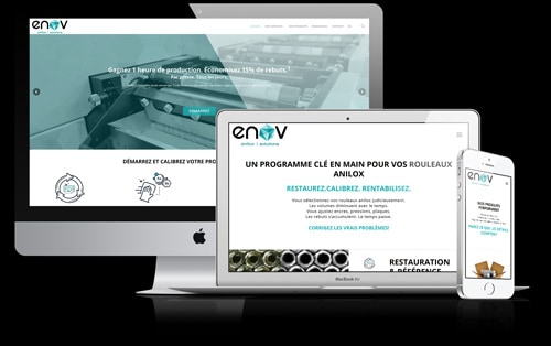 Conception WordPress Groupe Enov fond noir